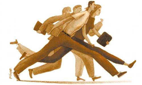 Crédito: Fernando Lopes/CB/D.A Press. Pessoas carregam pastas e livros e correm.