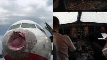 Chuva de granizo destrói vidro e bico de avião; piloto pousou com 'zero visibilidade'