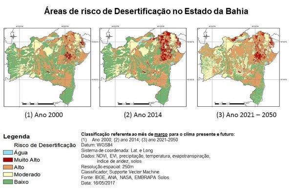 O estado da Bahia corre risco de virar um deserto, sugere estudo