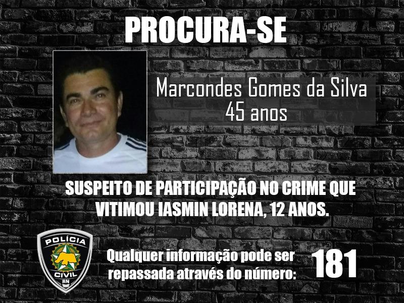 FOTO: Polícia procura suspeito de matar garota Iasmin Lorena