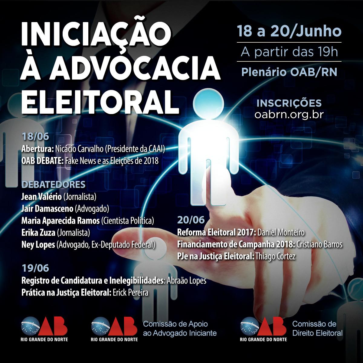 9a85ed7285 A Comissão do Advogado Iniciante está trazendo o constitucionalista Erick  Pereira