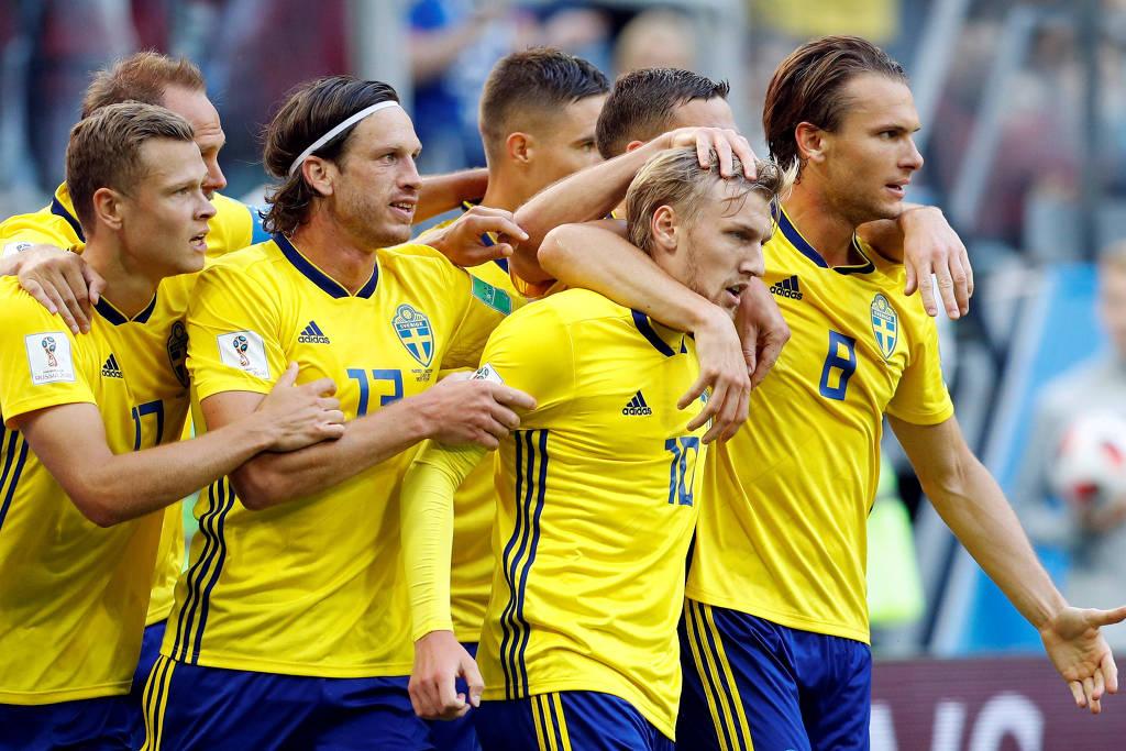 Suécia derrota a Suíça e volta às quartas de final depois de 24 anos