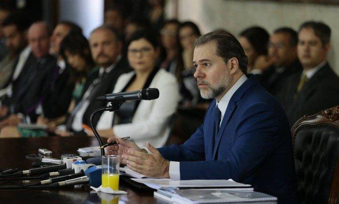 'Ele sempre foi eleito pela urna eletrônica', diz Toffoli sobre críticas de Bolsonaro