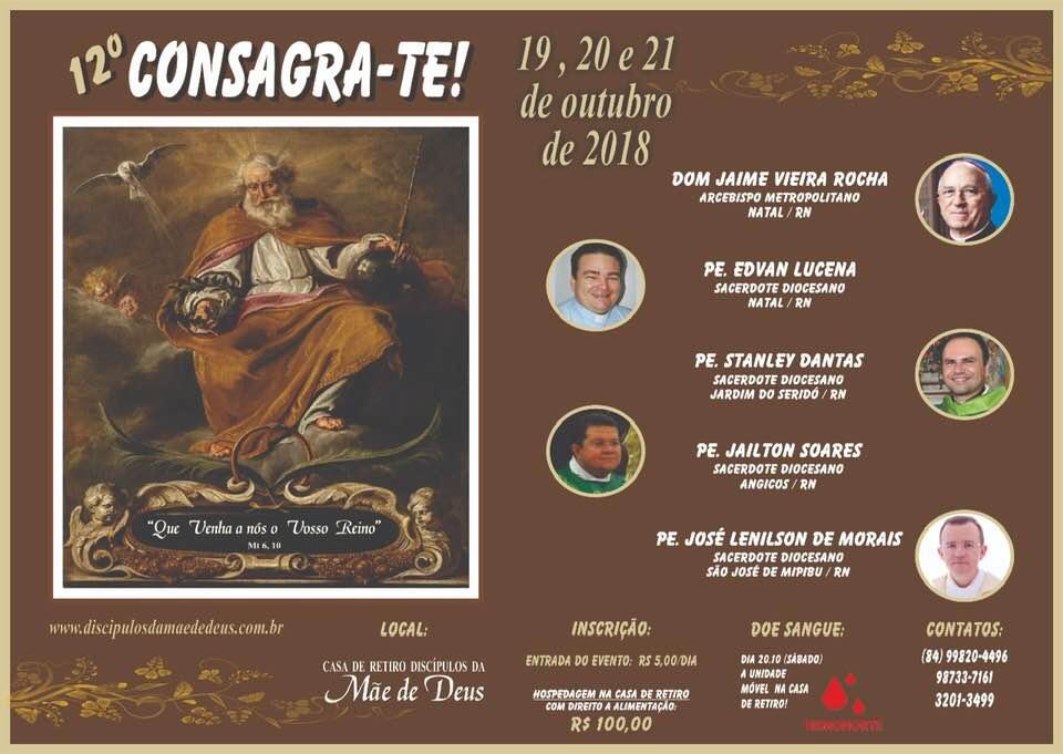 Fraternidade promove 12ª edição do Consagra-te na Grande Natal