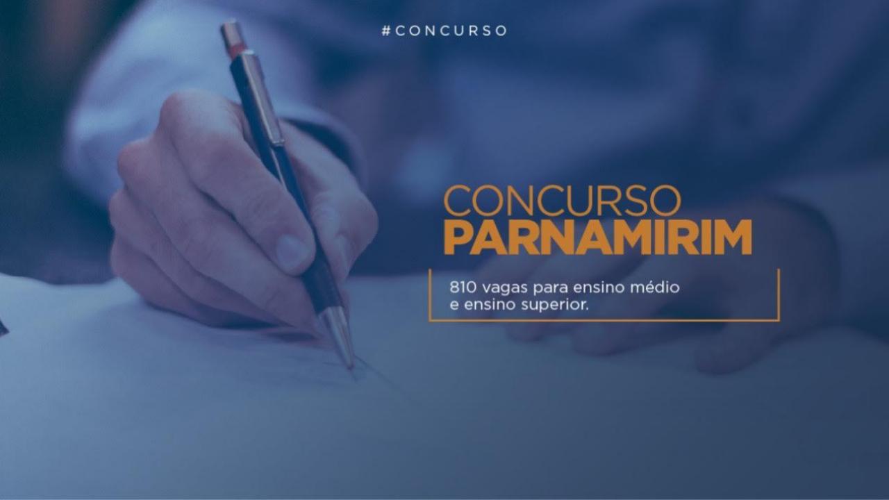 Com 810 vagas, inscrições para concurso da prefeitura de Parnamirim se encerram nesta segunda