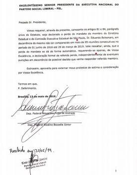 Alexandre Frota pede afastamento de Eduardo Bolsonaro como presidente do PSL paulista
