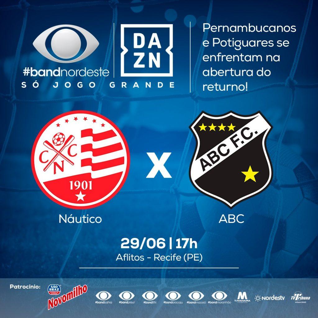 Resultado de imagem para Futebol: direto do estádio dos Aflitos (PE), Band Natal irá transmitir neste sábado, às 17 horas, o duelo entre o ABC e Náutico