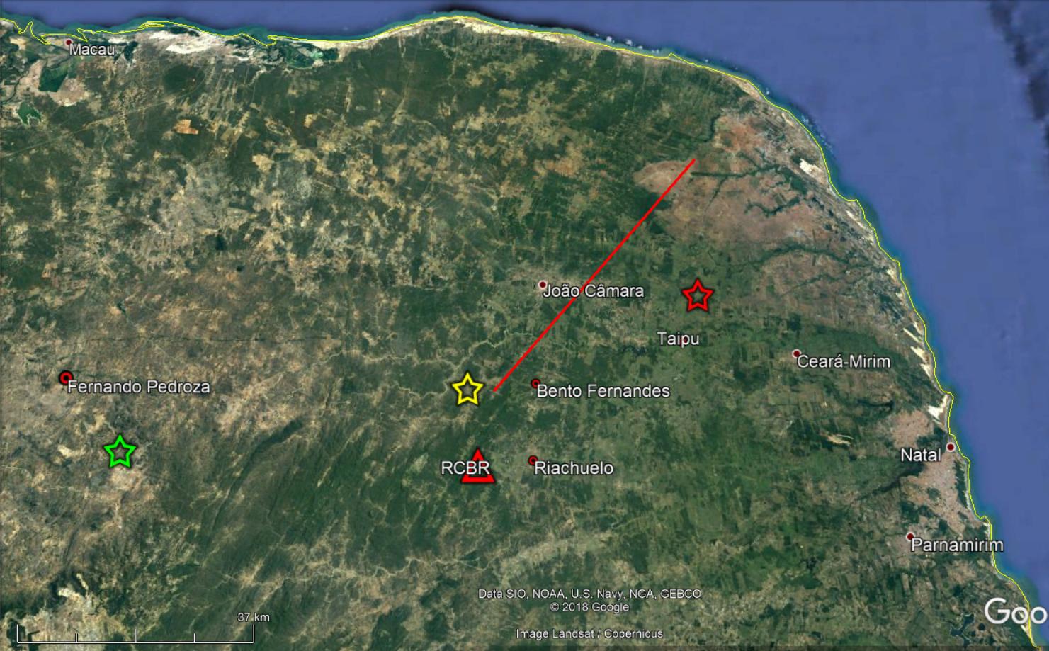 Tremores de terra foram registrados em municípios do RN no sábado e nessa segunda
