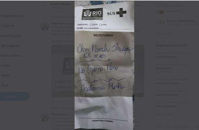Médica indica meditação em vez de remédio para paciente em surto psicótico no Rio