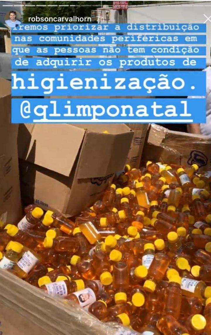 Juíza Eleitoral notifica vereador Robson Carvalho por distribuição de sabonete líquido