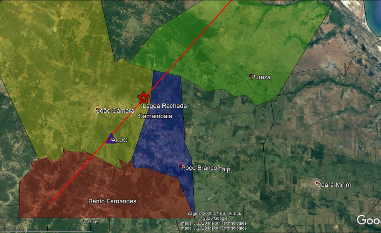 Novo tremor é registrado na região de João Câmara na madrugada desta segunda, em área onde se iniciou a grande atividade sísmica em 1986