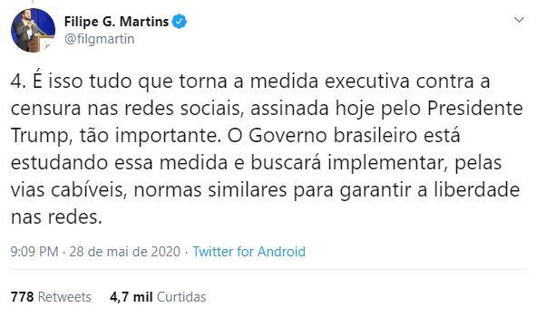 Governo avalia seguir Trump e reduzir proteção legal de mídias sociais no Brasil, diz assessor especial da Presidência