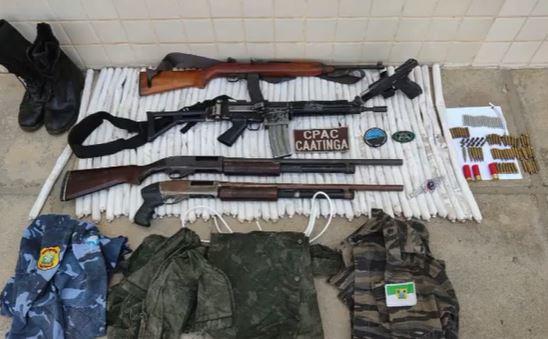 f1 Fuzil da Polícia Militar do RN é apreendido com assaltantes de banco na Bahia