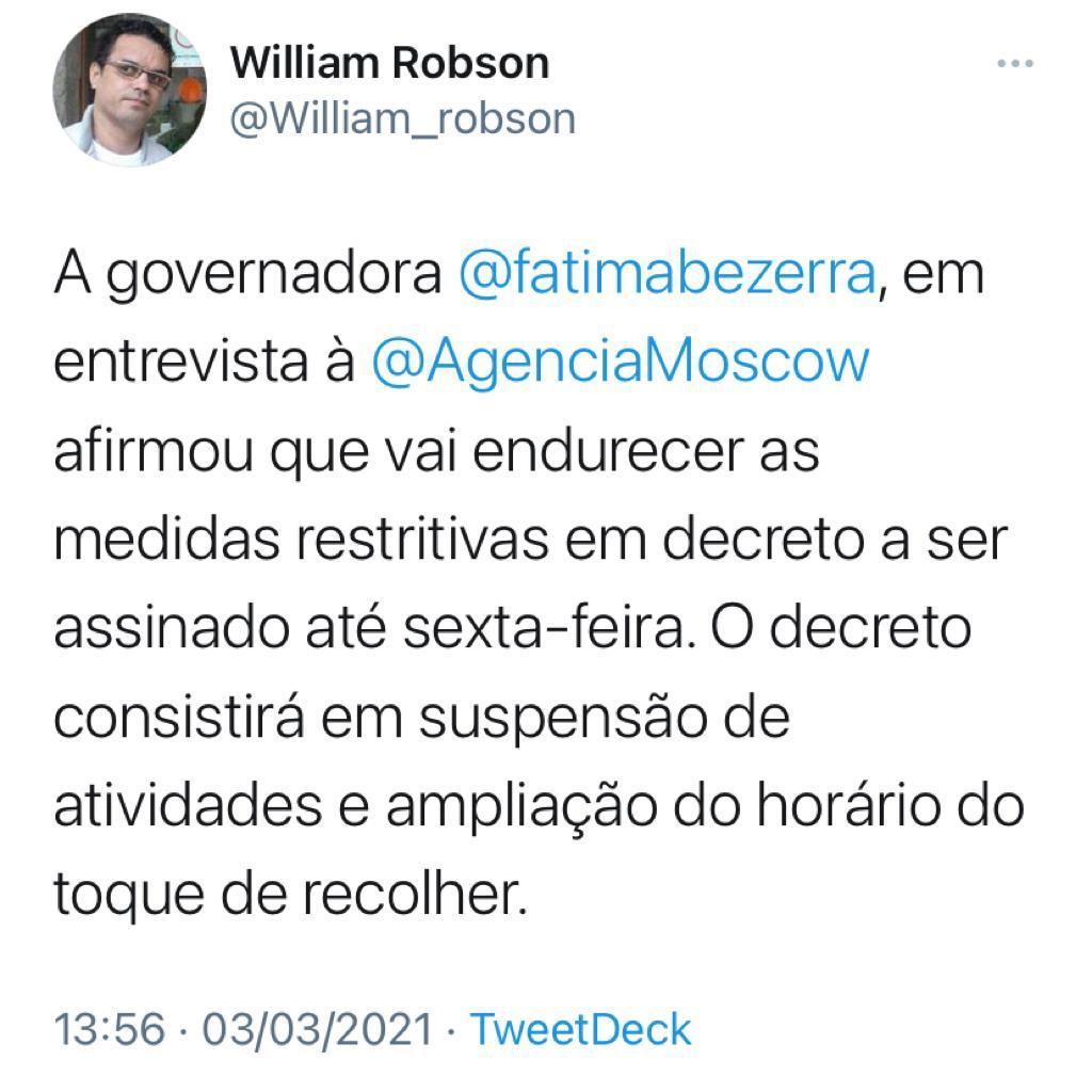 IMG-20210303-WA0069 SUSPENSÃO DE ATIVIDADES E AMPLIAÇÃO DO TOQUE DE RECOLHER: Fátima anuncia que deve assinar até sexta novas medidas de endurecimento no RN contra pandemia