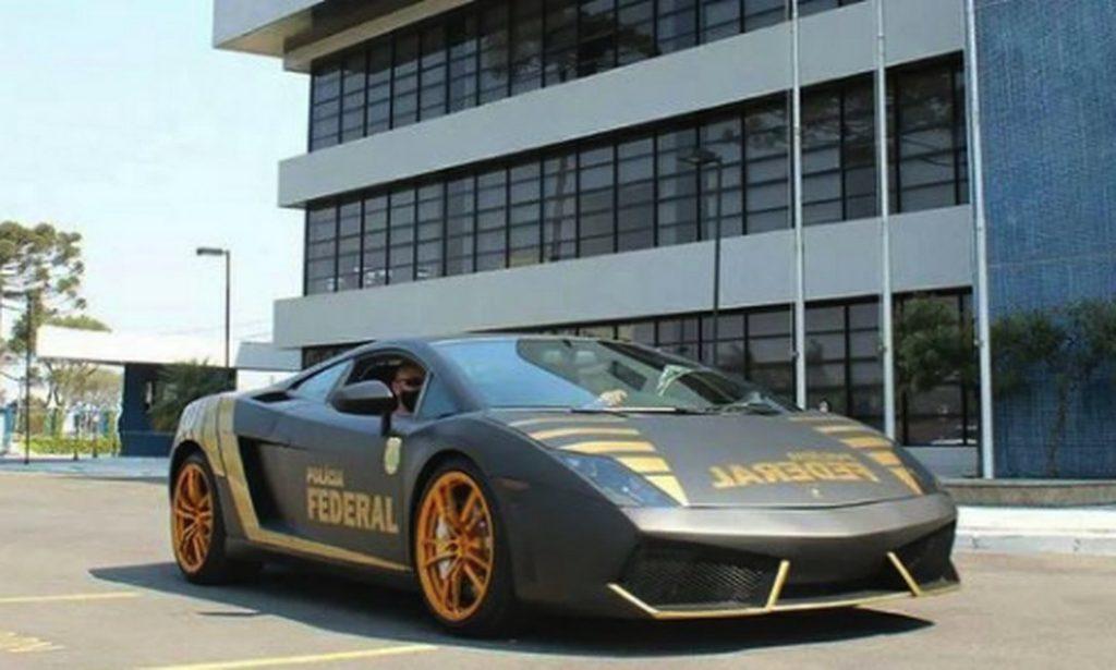 l1-1024x615 FOTOS: Lamborghini de R$ 800 mil apreendida em ação contra golpistas vira viatura da Polícia Federal