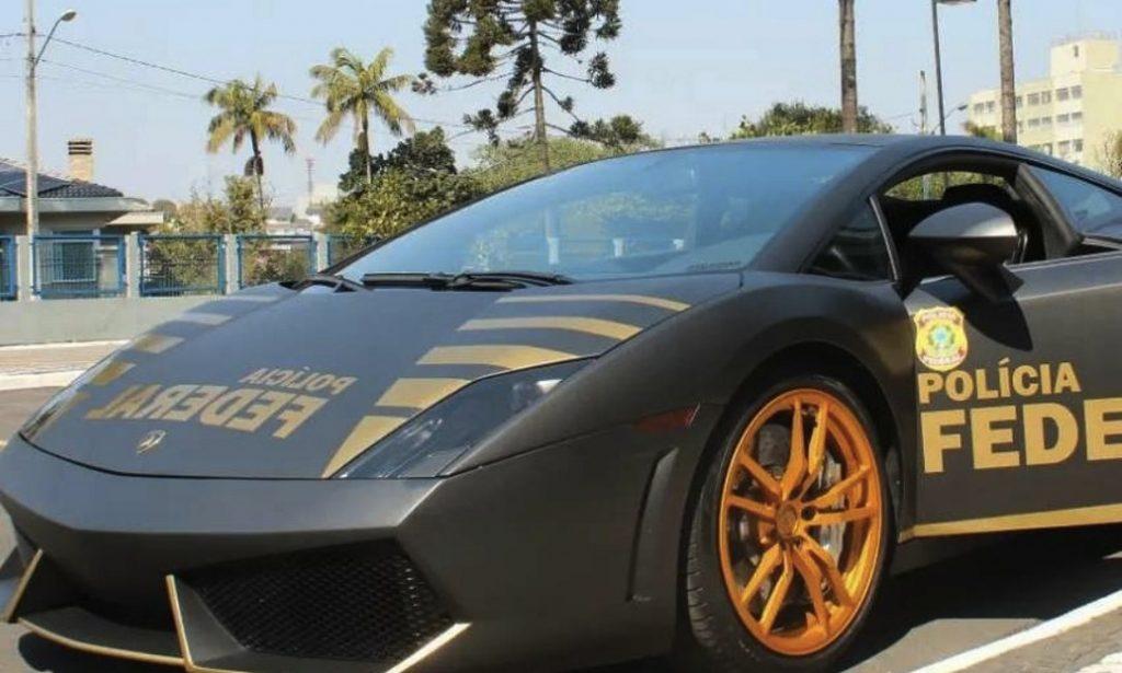 l2-1024x615 FOTOS: Lamborghini de R$ 800 mil apreendida em ação contra golpistas vira viatura da Polícia Federal