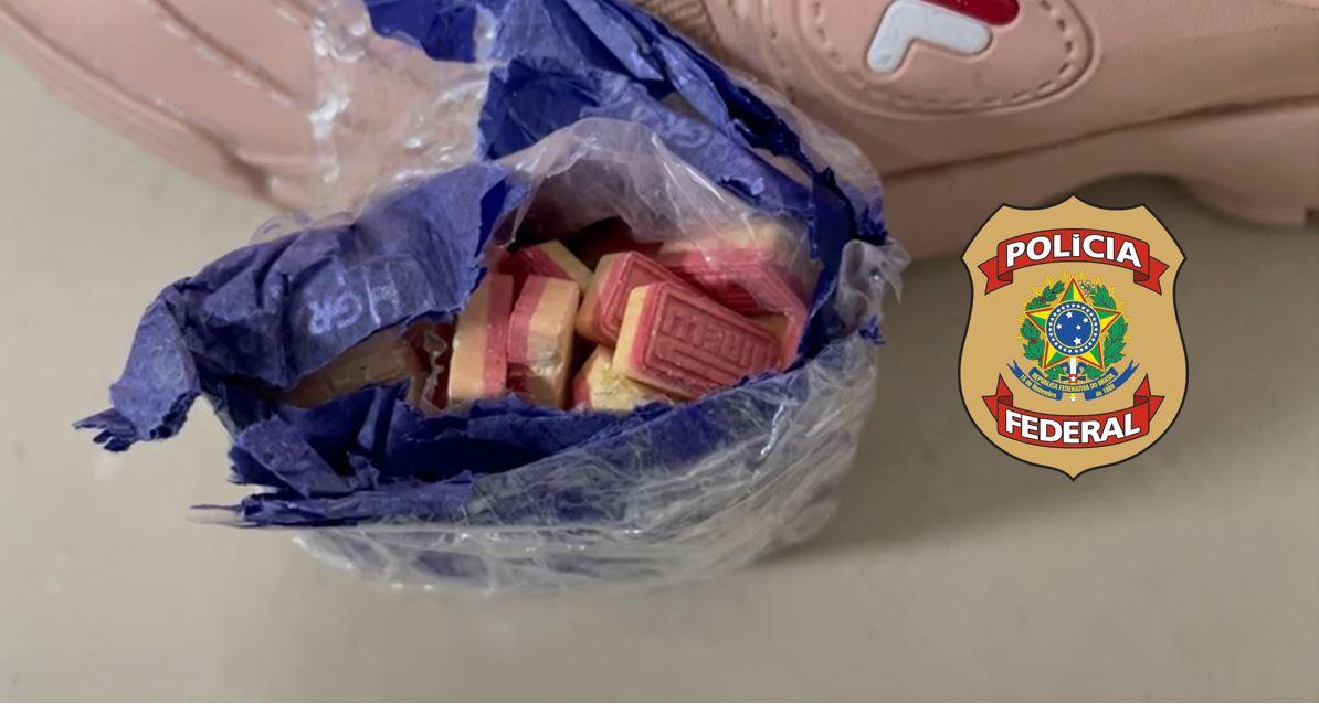IMG-20210928-WA0013 FOTOS – INTERCEPTAÇÃO VIA CORREIOS: Cães da PF encontram 100 comprimidos de ecstasy ocultos em par de tênis em encomenda postal em Natal