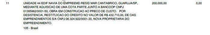 MARICE-DECLARAÇÃO-2013-CRÉDITO-BANCOOP-OAS