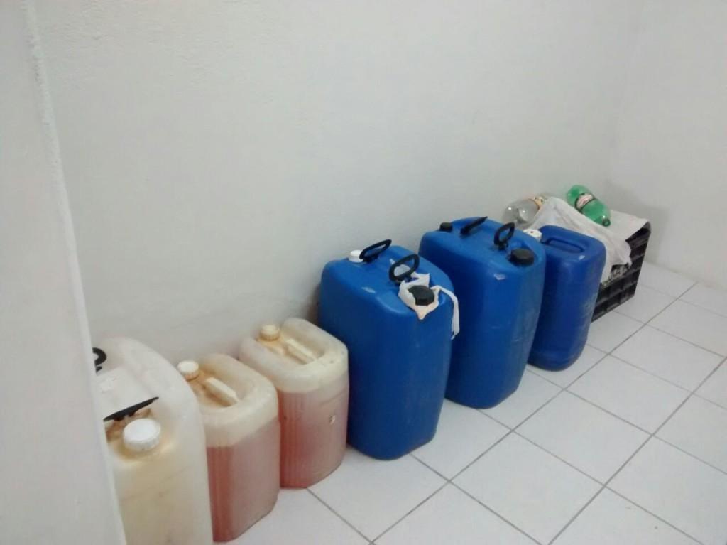 Operação conjunta apreende 316 litros de combustível comercializados ilegalmente