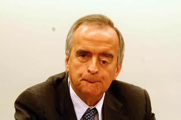 16/04/2014. Credito: Bruno Peres/CB/D.A Press. Brasil. Brasília - DF. Ex-diretor financeiro da Petrobras Nestor Ceveró, durante audiência da Comisão de Fiscalização Financeira e Controle da Câmara dos Deputados, no Congresso Nacional.