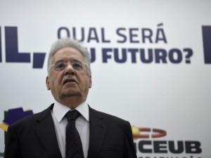 """Durante a palestra Brasil, Qual Será o Seu Futuro?, o ex-presidente Fernando Henrique Cardoso afirmou não ser pessimista em relação ao país. Segundo ele, o Brasil tem um """"potencial enorme"""" (Wilson Dias/Agência Brasil)"""